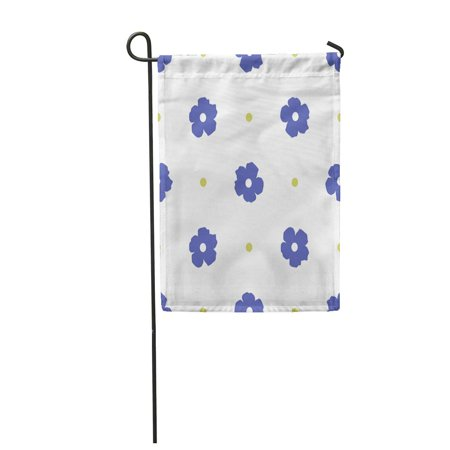 LADDKE Blue Daisy Ditsy Floral Cute Flowers and Polka Dot for Rustic Simple Green Bolt Garden Flag Decorative Flag House Banner 12x18 inch
