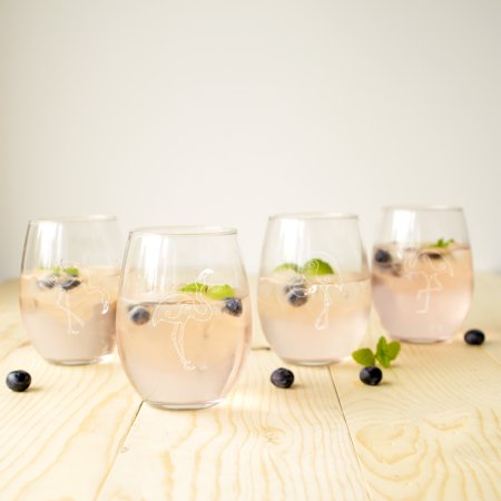 21 oz. Flamingo Stemless Wine (Flamingo Glasses)