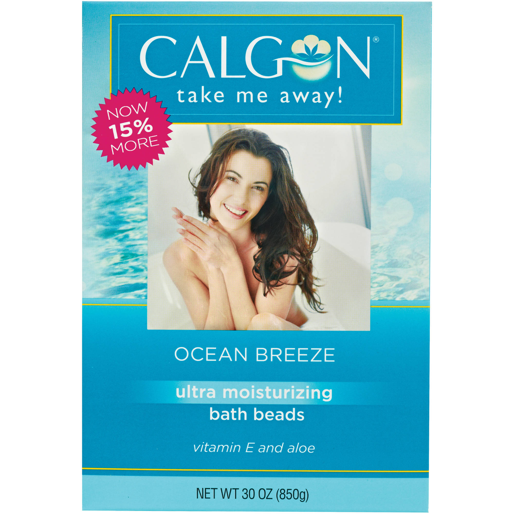 Calgon Ocean Breeze Bath Beads, 30 oz