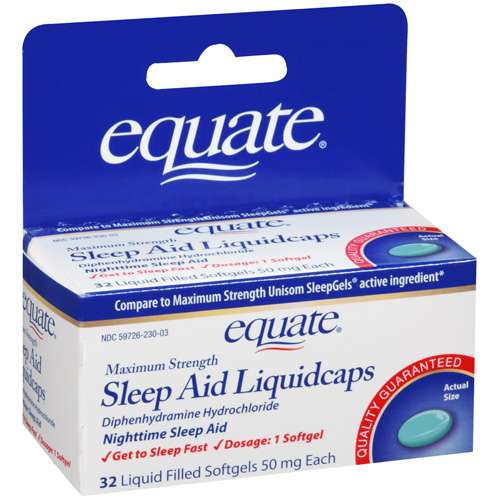 Equate Maximum Strength Sleep Aid, 32 Liquidcaps