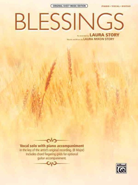 Blessings : Piano Vocal Guitar by Alfred Publishing Co., Inc.