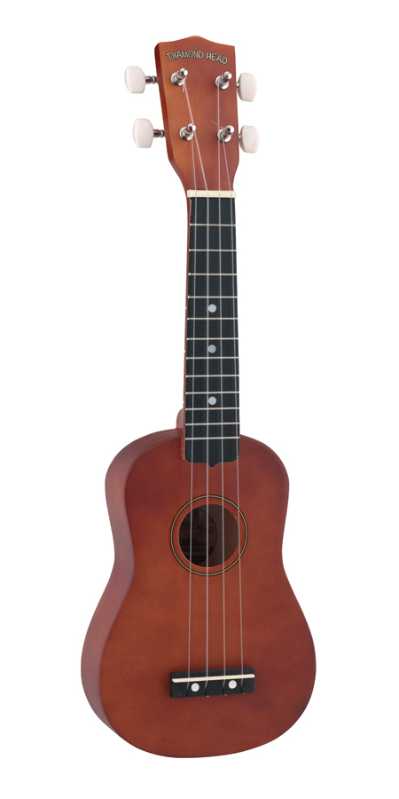 Diamond Head DU-101 Rainbow Soprano Ukulele, Brown by Diamond Head