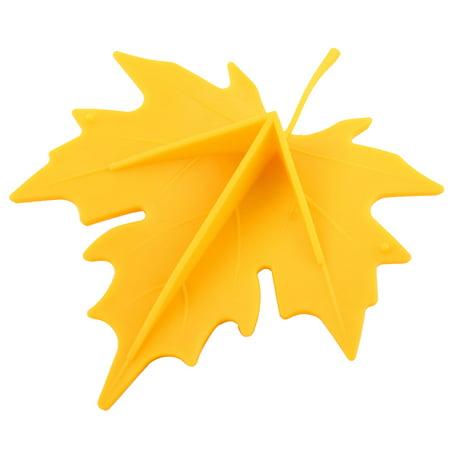 Office EVA Maple Leaf Style Safety Open Wedge Jam Door Stopper Doorstop Yellow - image 1 of 4