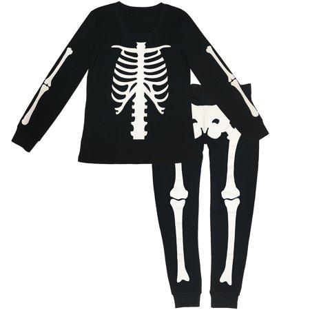 Carters Halloween Pajamas Skeleton (Skeleton Halloween Costume Pajamas for Women,)