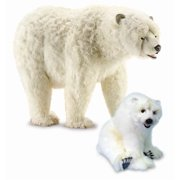 Life Size Walking Polar Bear Plush Stuffed Animal