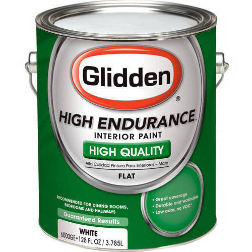Glidden White Flat Grab-N-Go, 1-Gallon