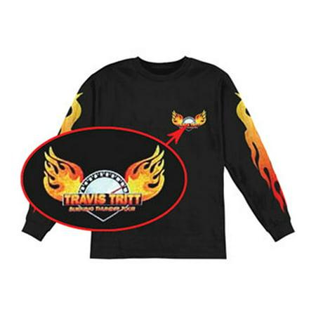 Travis Tritt Mens  Burning Thunder  Long Sleeve Black