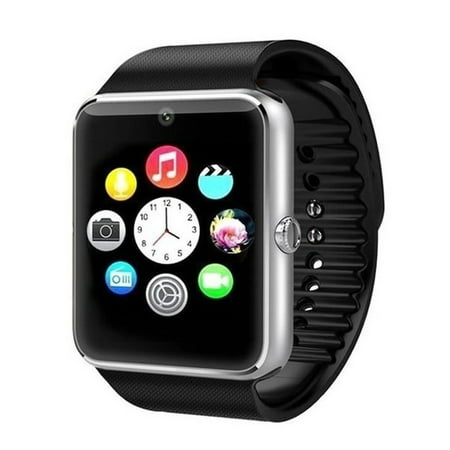 Premium Silver Bluetooth Smart Wrist Watch Phone mate for Android Touch Screen Blue Tooth Smart Watch with Camera for Adults for Kids (Supports [does not include] SIM+MEMORY CARD)