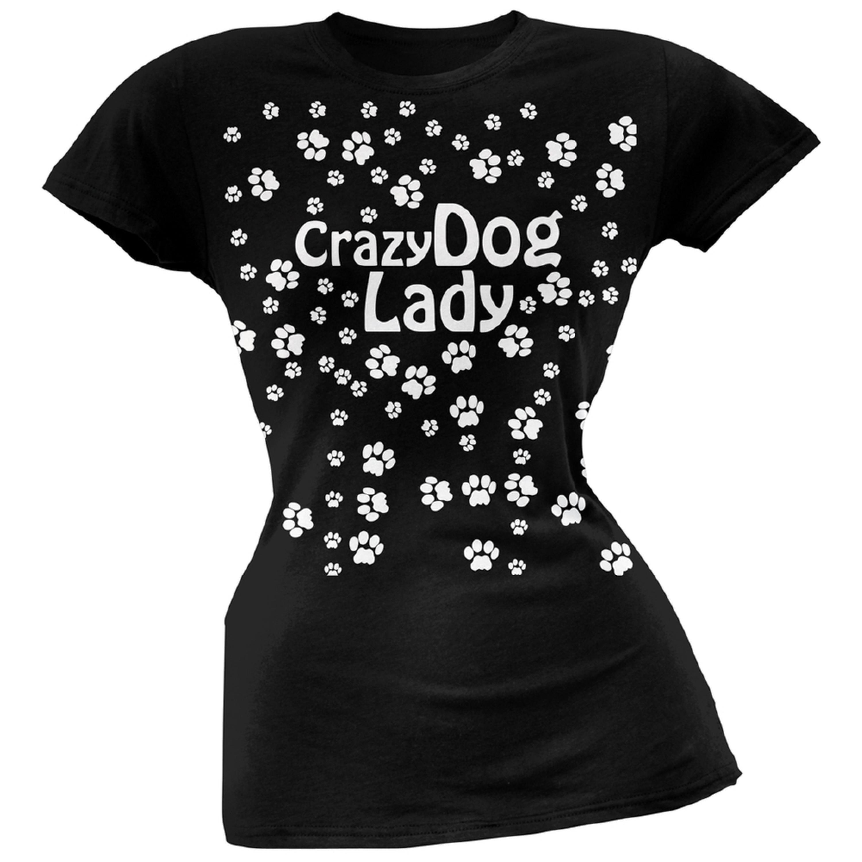 Crazy Dog Lady Paw 1 Kids Girl Boy Short Sleeve Romper Bodysuit Tops 0-24 Months