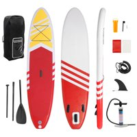 10' Inflatable Paddle Boards, 551 Lbs Capacity Inflatable Stand Up Paddle Board Kit for Youth / Adult, Includes Paddle Boarding, Pulp, Pump, Repair Kit, Durable&Lightweight, Non-Slip Deck, Red, W2863