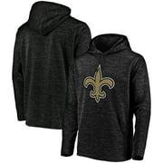 New Orleans Saints NFL Pro Line by Fanatics Branded Primary Logo Streak Pullover Hoodie - Black