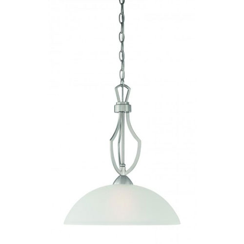 Thomas Lighting TC0005715 Charles 1 Light Pendant In Oiled Bronze Finish by Thomas Lighting