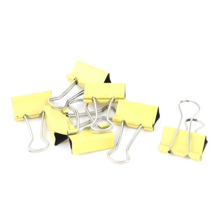 Unique Bargains 7 Pcs 25mm Metal Desk Paper Document Office Stationery Binder Clips Yellow