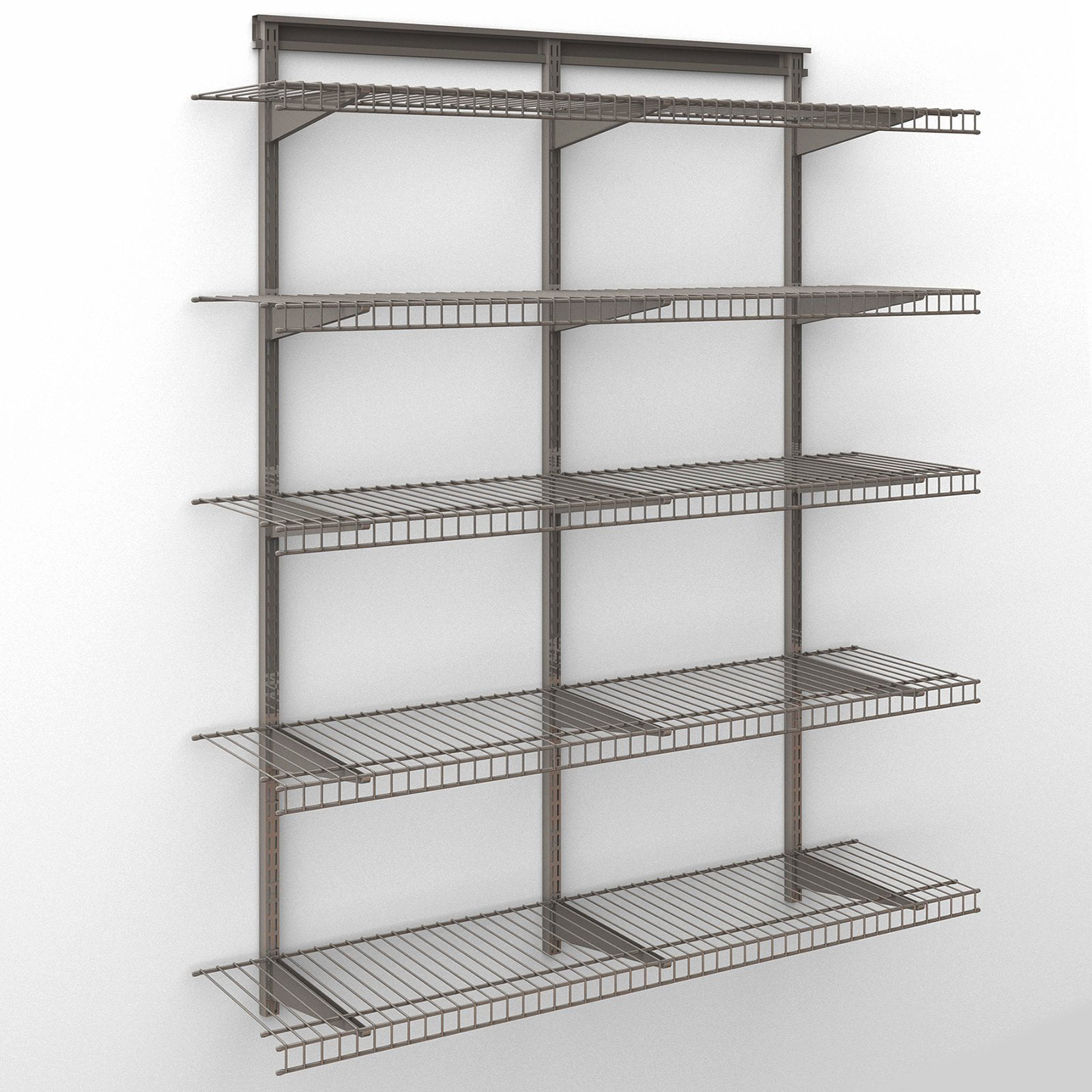 Marvelous ClosetMaid ShelfTrack 4 Ft. Wire Shelf Kit   Walmart.com