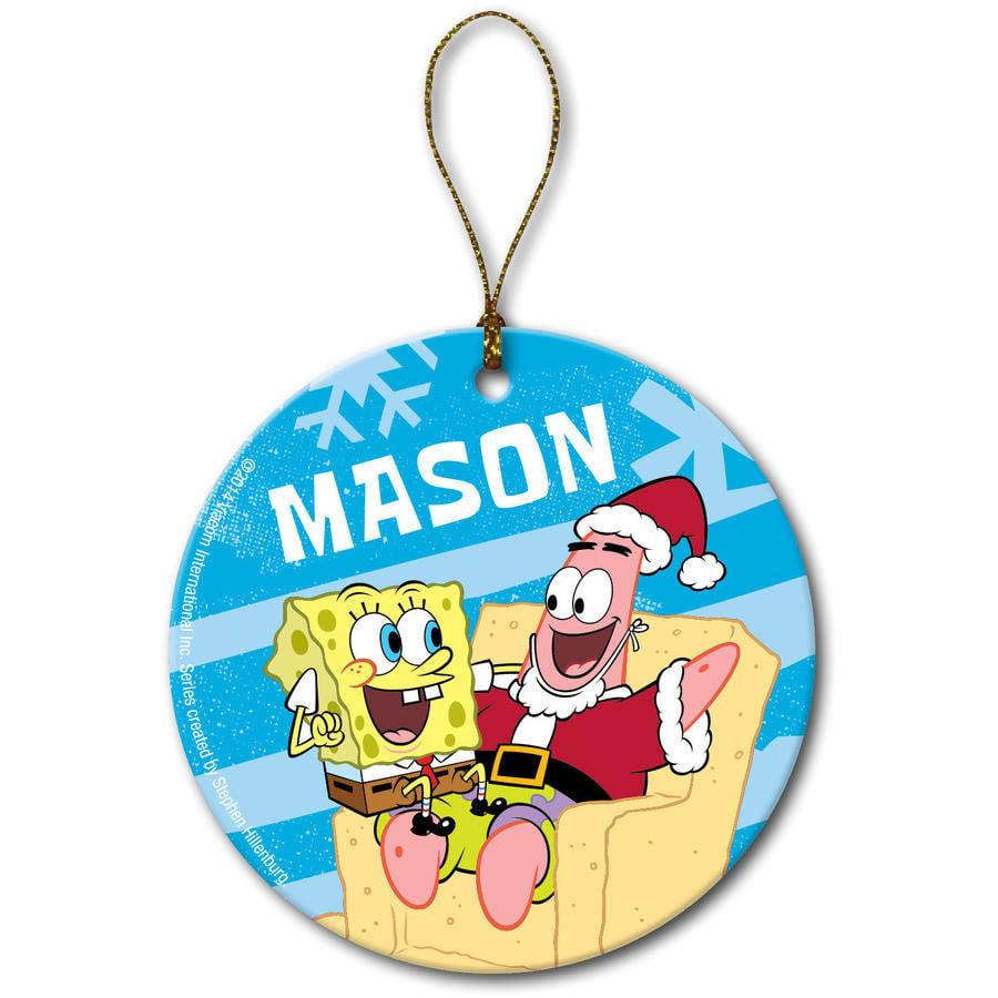 Personalized SpongeBob SquarePants Holiday Ornament