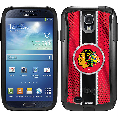 Chicago Blackhawks Jersey Stripe Design On Otterbox Commuter Series Case For Samsung Galaxy S4 Walmart Com