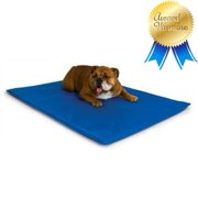 "K Cool Bed III Cooling Dog Bed / Pad / Mat (Blue, Medium - 22"" x 32"" x 1.5""), Award-winning, uniquely engineered cool core diverts liquid.., By K Manufacturing"