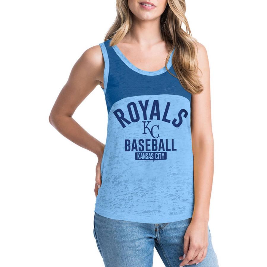 MLB Kansas City Royals Women's Short Sleeve Team Color Graphic Tee