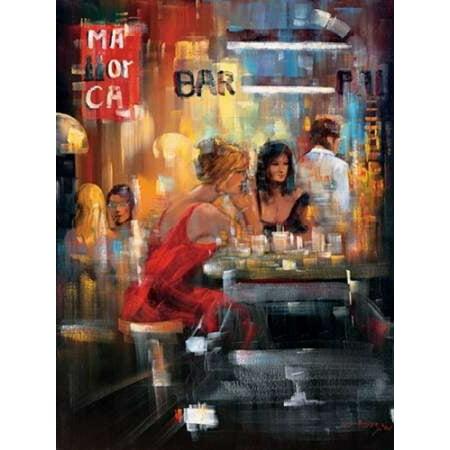 Bar Scene IV Poster Print by  Madjid