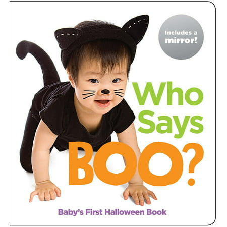 Who Says Boo Babys 1st Halloween Book (Board Book) - Babys First Halloween