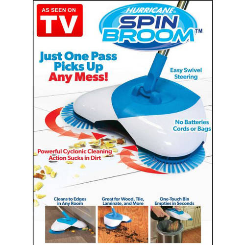As Seen on TV Hurricane Spin Broom, Wireless