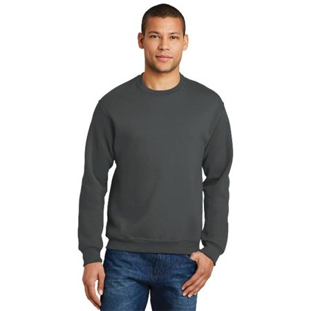 Jerzees 562M Mens Nublend Crewneck Sweatshirt  Charcoal Grey   3Xl