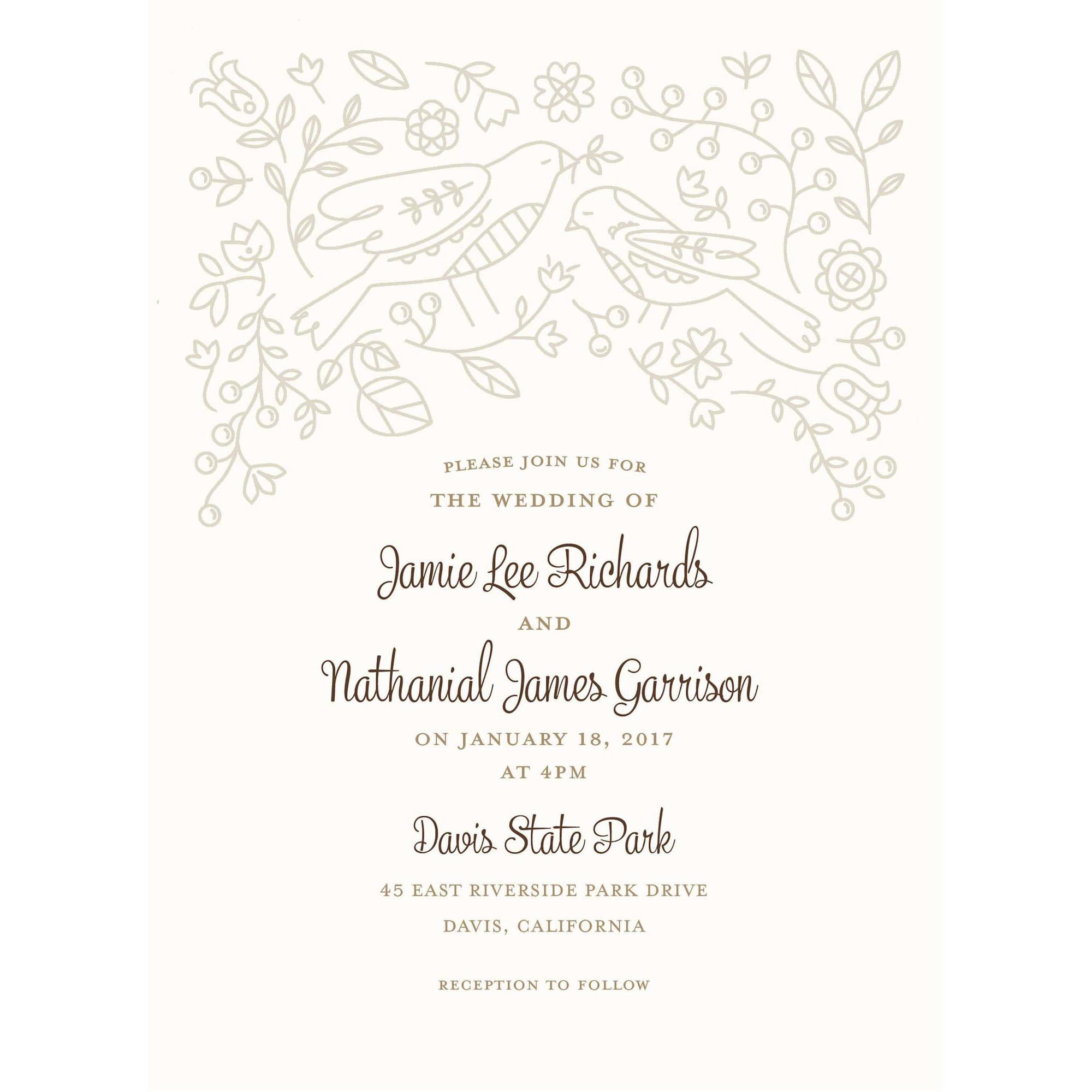 Dove Standard Wedding Invitation Walmart Com