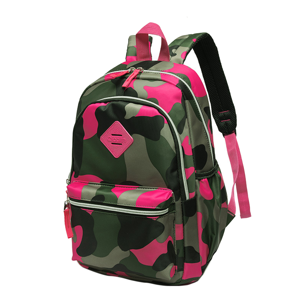 School Backpack, Coofit Cute Fashion Durable Camouflage Bookbag Camping Outdoor Travel Bag Daypack for Teens Women Men(Blue)