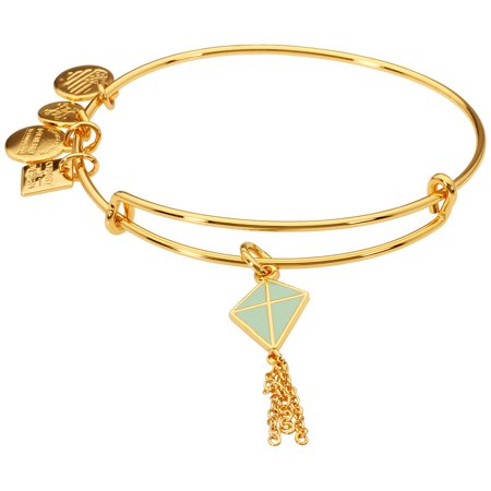 Alex And Ani Green Inspiration In Flight Charm Bangle Bracelet CBD16IIFYG ()