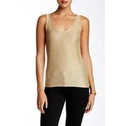 Olivia Sky NEW Shimmer Gold Women's Size Medium M Knit Tank Top Cami $48 DEAL
