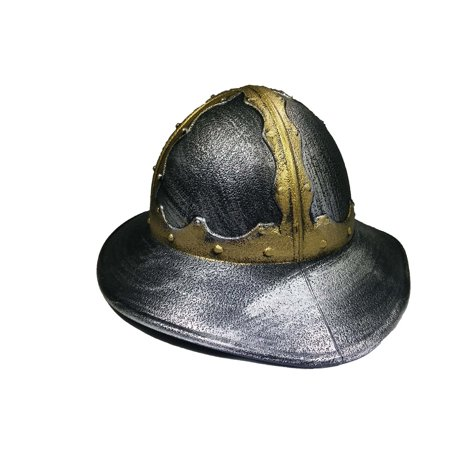 Faux Chainmail (Medieval Faux Crusader Kettle Helm Knight Helmet And Chainmail Mask Coif)