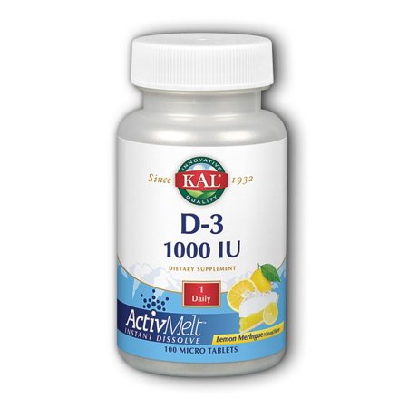 D-3 ActivMelt Lemon Meringue 1000 IU Kal 100 Tabs 1000 Iu 100 Tabs