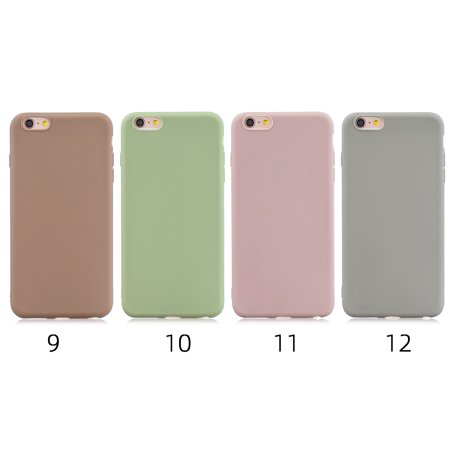 For Samsung J4 PLUS Lovely Candy Color Matte TPU Anti-scratch Non-slip Protective Cover Back Case Color:10 - image 2 of 8