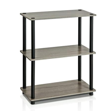 Furinno Turn N 3 Tier Compact Multipurpose Shelf Display Rack 10024gyw Bk