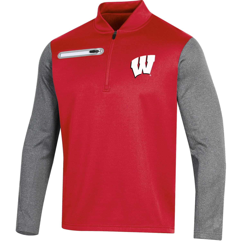 Colosseum Wisconsin Badgers NCAA Gameplan Mens Full Zip Fleece Jacket