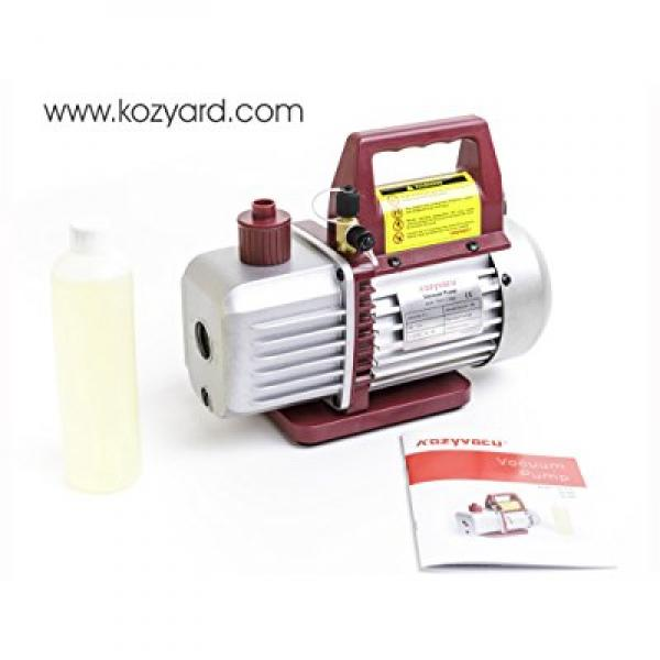 Kozyvacu, Single-Stage Rotary Vane Economy Vacuum Pump (3.5CFM, 5Pa, 1/4HP) Air Conditioner Refrigerant Recovery, HVAC/AUTO AC tool R134a R410a Wine Degassing, Vacuum Pump for Milking