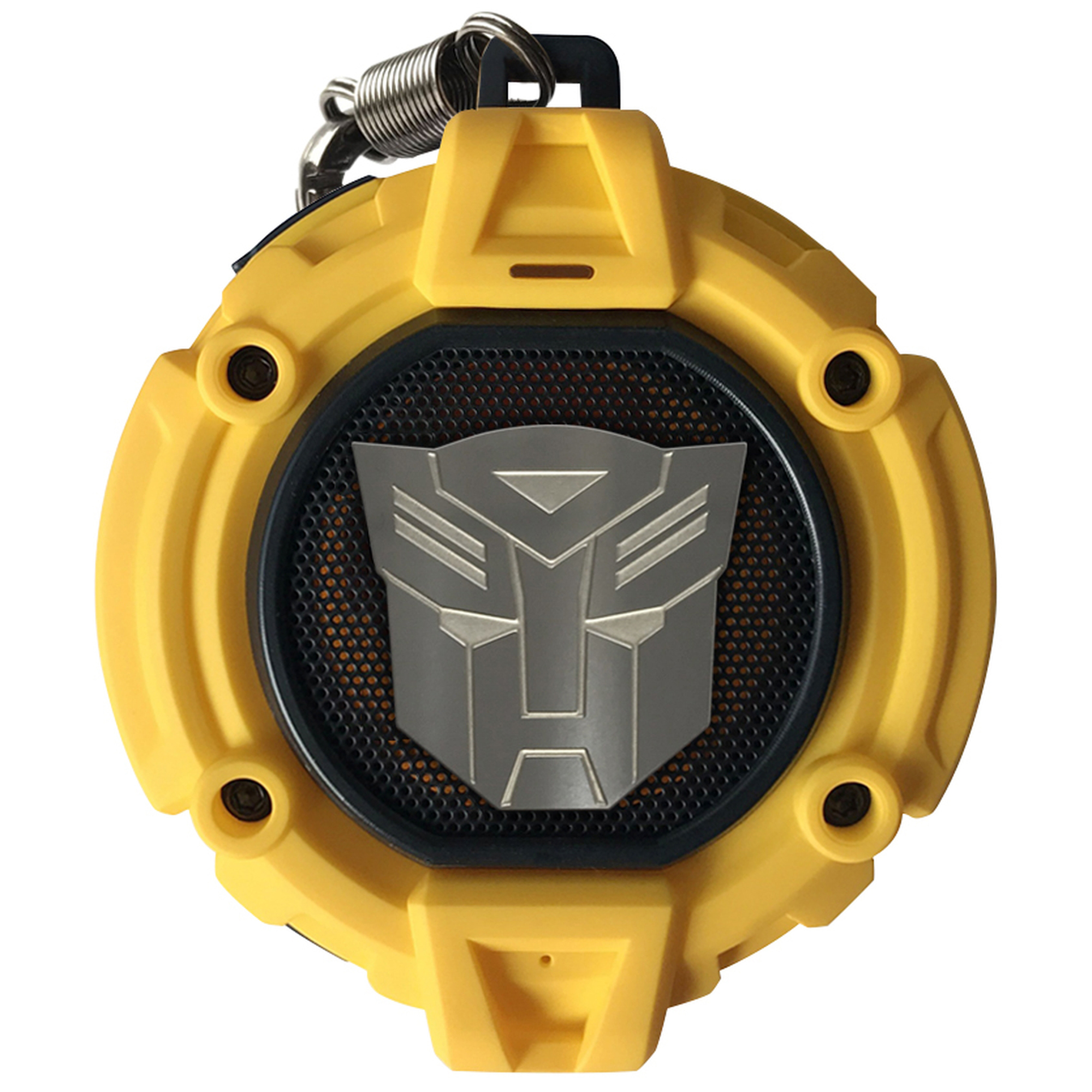 Transformers: Licensed Bluetooth v4.2 HD Wireless Portable Speaker - BUMBLEBEE YELLOW - LED Autobot Shield Projector, Built-in Mic, Hands-Free, Rechargeable - Swordfish Tech