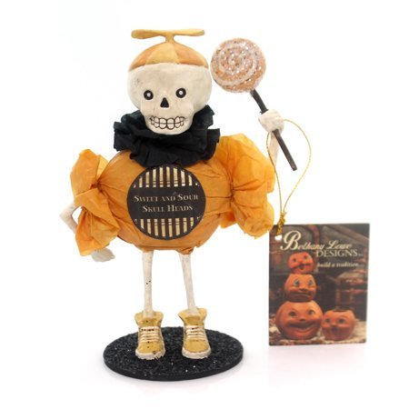 Halloween SWEET AND SOUR SKULLIE Polyresin Skeleton Bones Sweet Treats Td5035