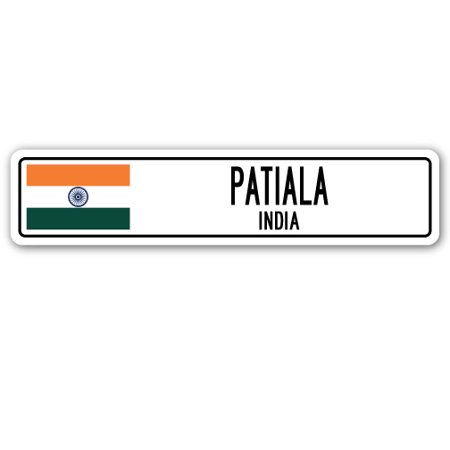 - PATIALA, INDIA Street Sign Indian flag city country road wall gift