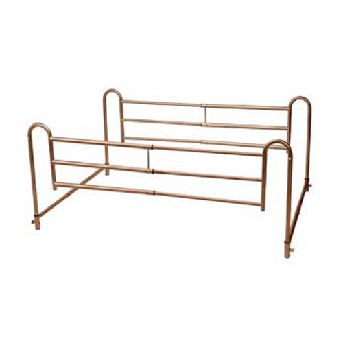 Drive Medical Brown Vein Cross Bars With King Size Bed Ex...