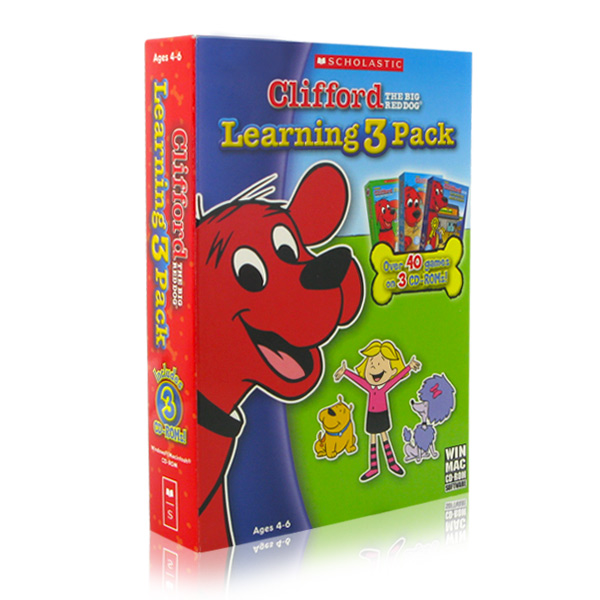 Clifford the Big Red Dog - Learning 3 Pack- XSDP -98184 - Join Clifford and his friends on 3 exciting adventures in this Clifford the Big Red Dog Learning 3 Pack! Play over 40 fun games and activ
