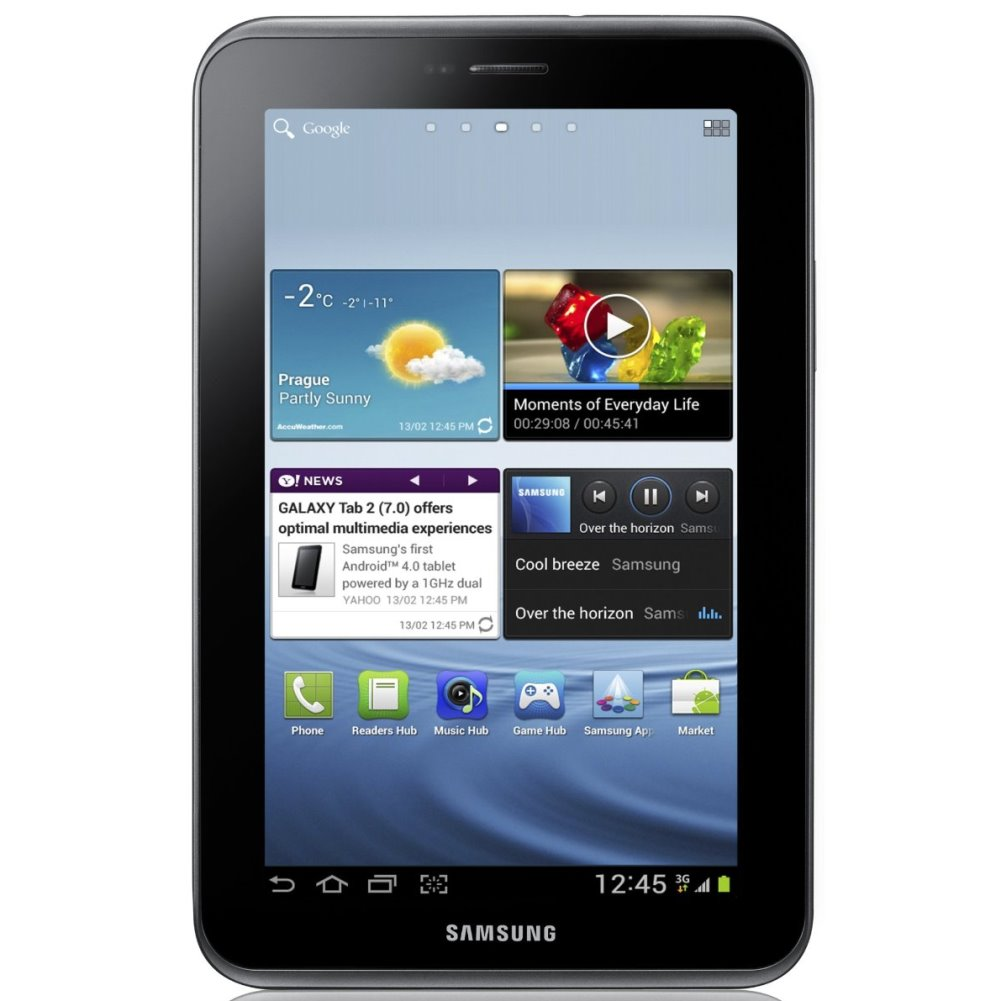 Samsung Galaxy Tab 2 Android 7-Inch Tablet 8GB 1.0 GHz Dual-Core Titanium Silver, Refurbished
