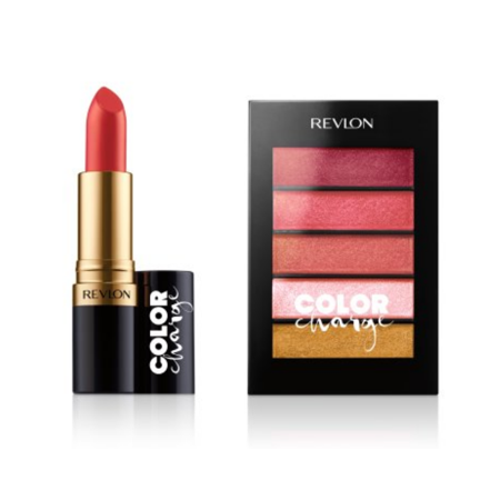 - Revlon Color Charge Super Lustrous Lipstick, High Energy & Revlon Color Charge Lip Powder, Peach Pucker