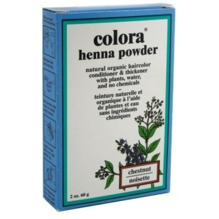 Colora Henna Powder Hair Color Chestnut, 2 oz (Pack of 4)