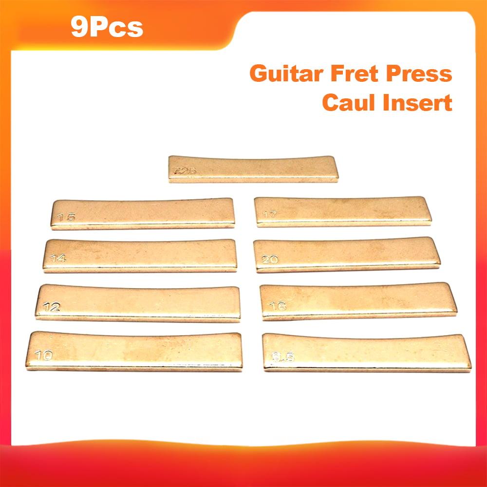 Gold 63x13.5MM Brass Flat Fret Press Caul Insert Replacement for Guitar