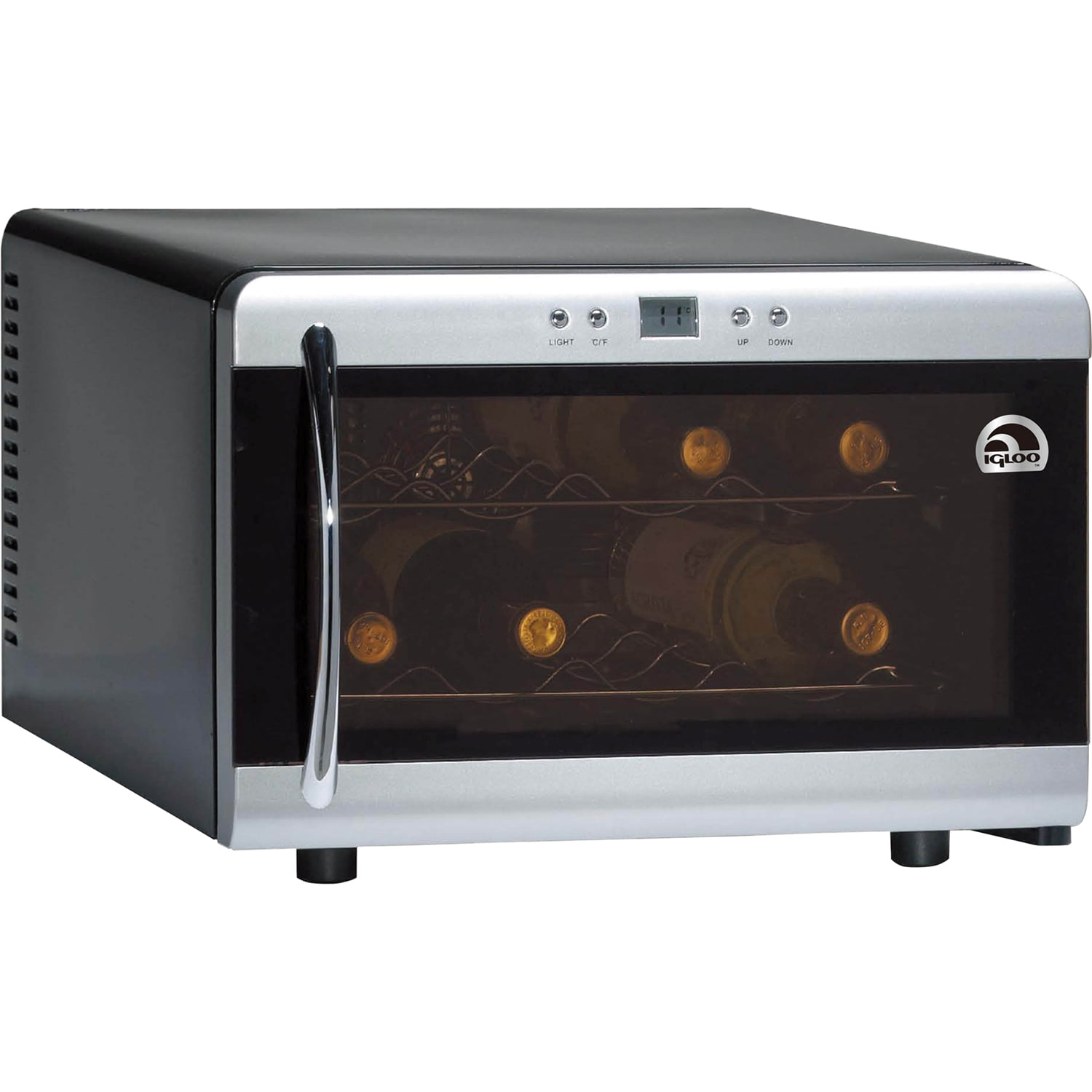 Igloo Premium Silver 8 Bottle Counter-top Wine Cooler with Digital ...