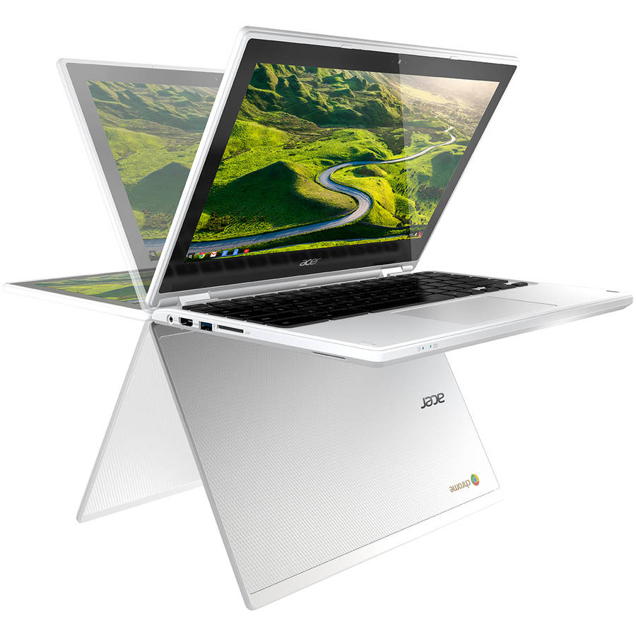 "Acer Denim White 11.6"" R11 CB5-132T-C32M Chromebook PC with Intel Celeron N3150 Processor, 2GB Memory, touch screen, 32GB Hard Drive and Google Chrome"