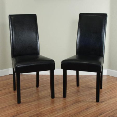Monsoon Villa Faux Leather Black Dining Chairs Set Of 2