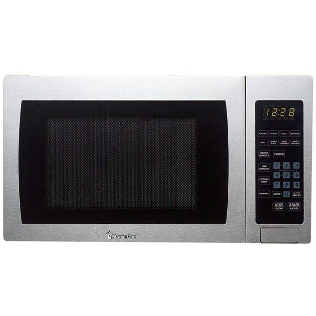 900 watt Microwave with Digital Touch - Stainless Steel, Metallic - 0.9 Cu ft