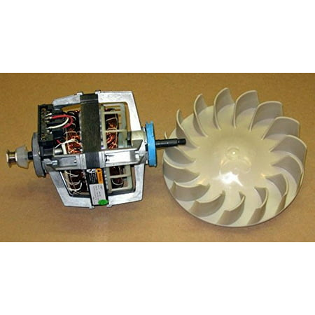 Major Appliances COMBO2 Dryer Motor 279827 Blower Wheel 694089 for Whirlpool Kenmore Roper Estate